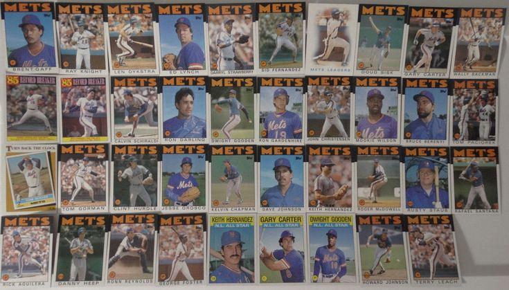 1986 Topps New York Mets Team Set of 39 Baseball Cards #topps #NewYorkMets