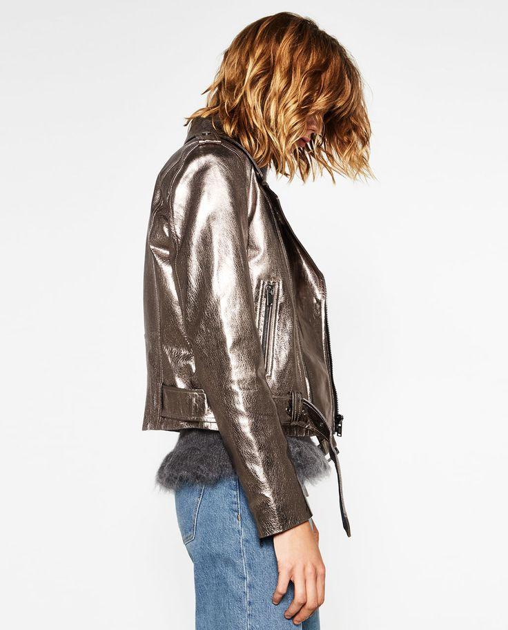 METALLIC LEATHER JACKET-Jackets-OUTERWEAR-WOMAN | ZARA United States