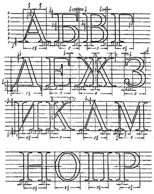 Decorative fonts, Cyrillic
