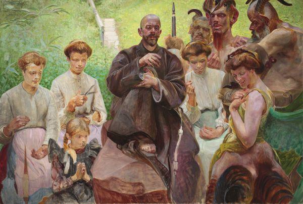 Święty Franciszek - Jacek Malczewski
