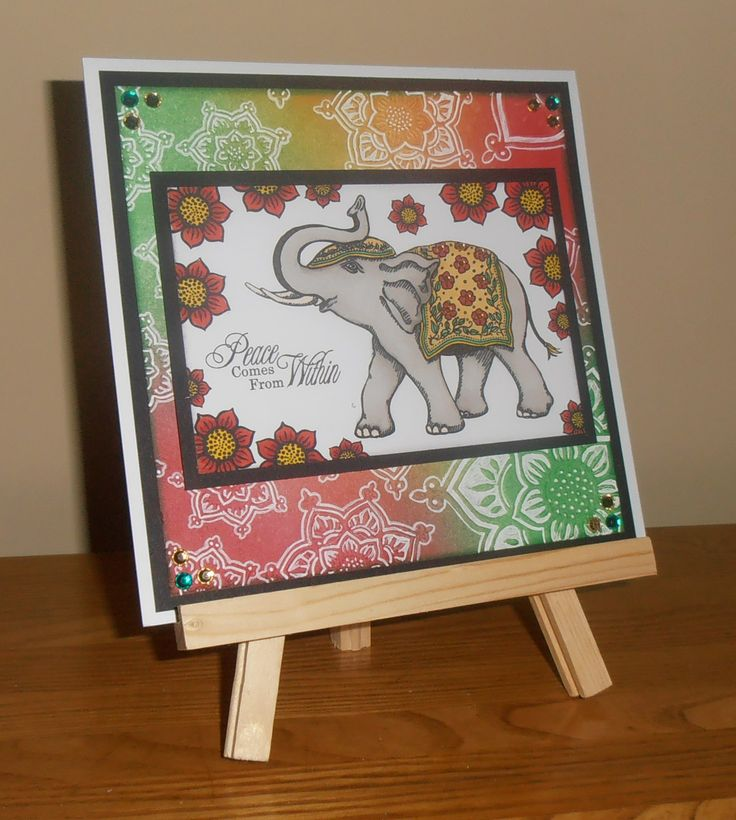 Another card created using the India inspired stamps from Sheena Douglass