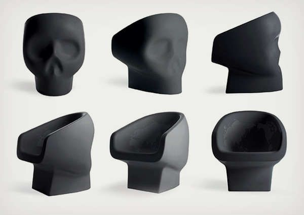 The Jolly Roger Chair by Favio Novembre is Dark Macabre Decor #skull #decor trendhunter.com
