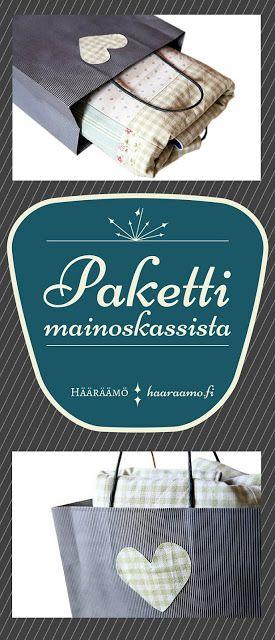 Lahjapaketti mainoskassista + vauvan tilkkupeitto http://www.haaraamo.fi