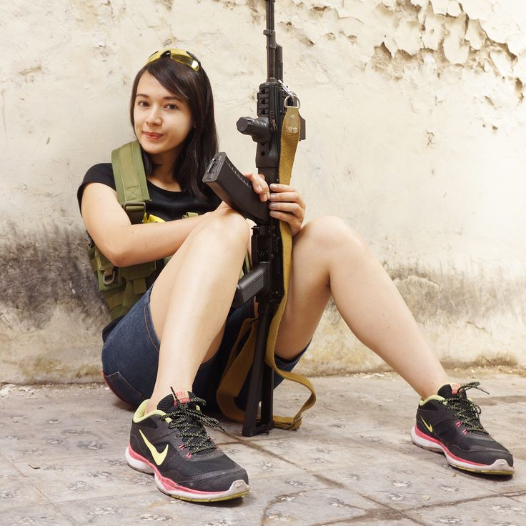 airsoft girl, girls army, tacticool girl, milsim operator, gun & girl, semarang skirmish team, AKS-74, airsoft international, cosplay girl, kunticamp semarang, icha swan, badass girl