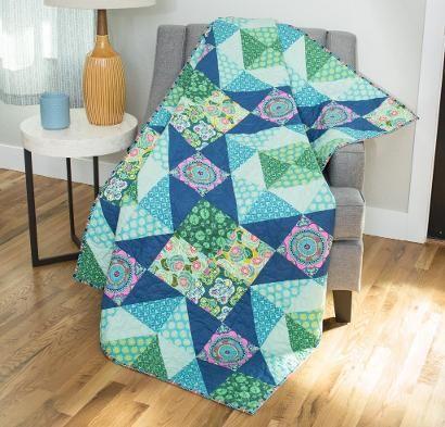 FreeSpirit Dream Weaver Garden Party Quilt Kit http://quilting.myfavoritecraft.org/quilt-kits-for-beginners/