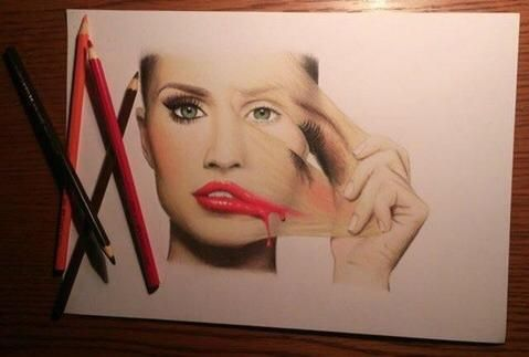 Girl Peeling Off Makeup Drawing - Google Search | 100 Things Drawing Challenge | Pinterest ...