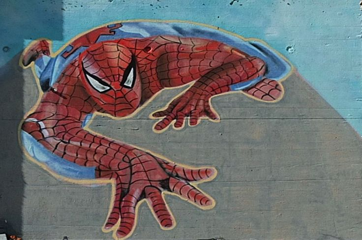 Graffiti Spiderman Street Art in Iserlohn, Germany #graffiti #street #art #spider #man #iserlohn #germany #kunst #spiderman