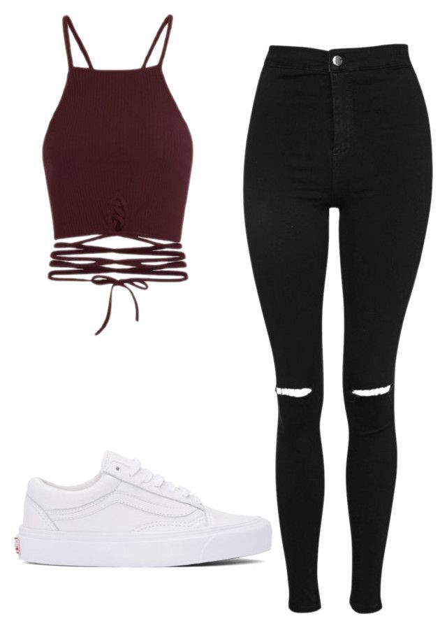 """Untitled #95"" by spikeytwister on Polyvore featuring Topshop and Vans"