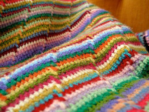 Rainbow colors Tunisian Crochet