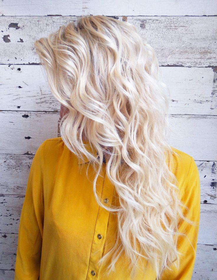 Bleach blonde mermaid waves