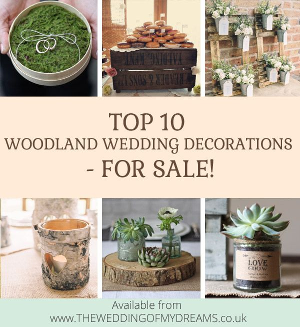 Top 10 Woodland Wedding Decorations (For Sale!) - available from www.theweddingofmydreams.co.uk