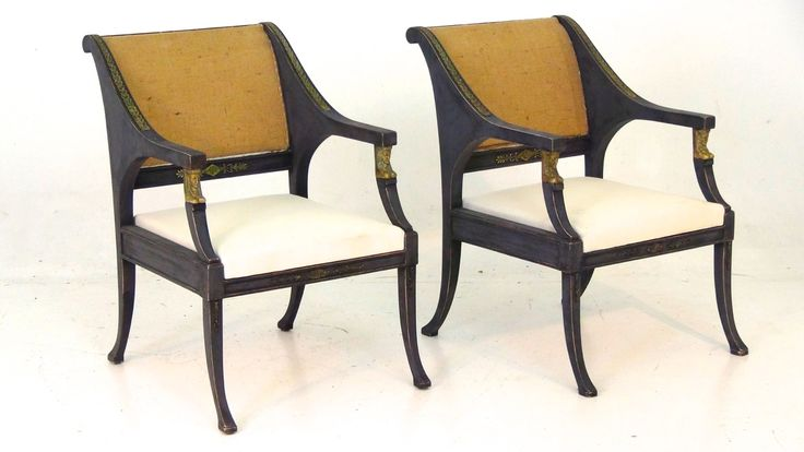 A pair of very fine bronze mounted Swedish chairs, in Gustavian style, ca. 1900-1920.
