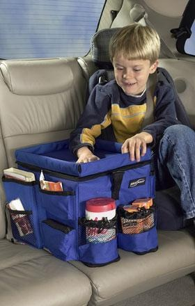 kids travel bin for the car @Courtenay Jauregui, @Patricia Merino-Collins