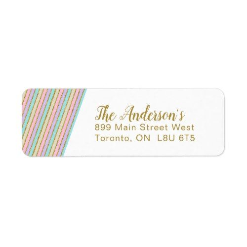 magical unicorn stripes return address labels magical unicorn and