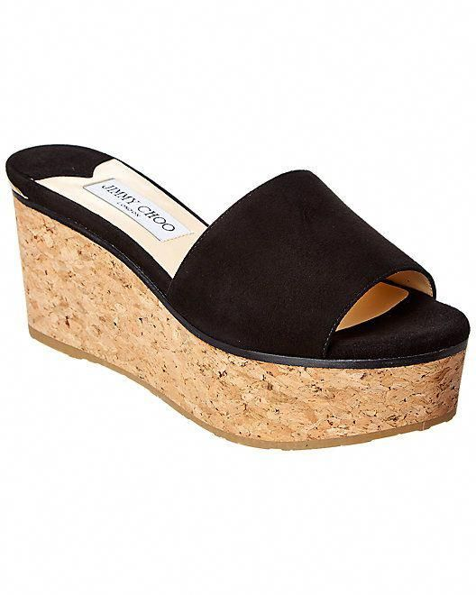 57081cafdbbf Jimmy Choo Deedee 80 Suede Wedge Sandal  Deedee