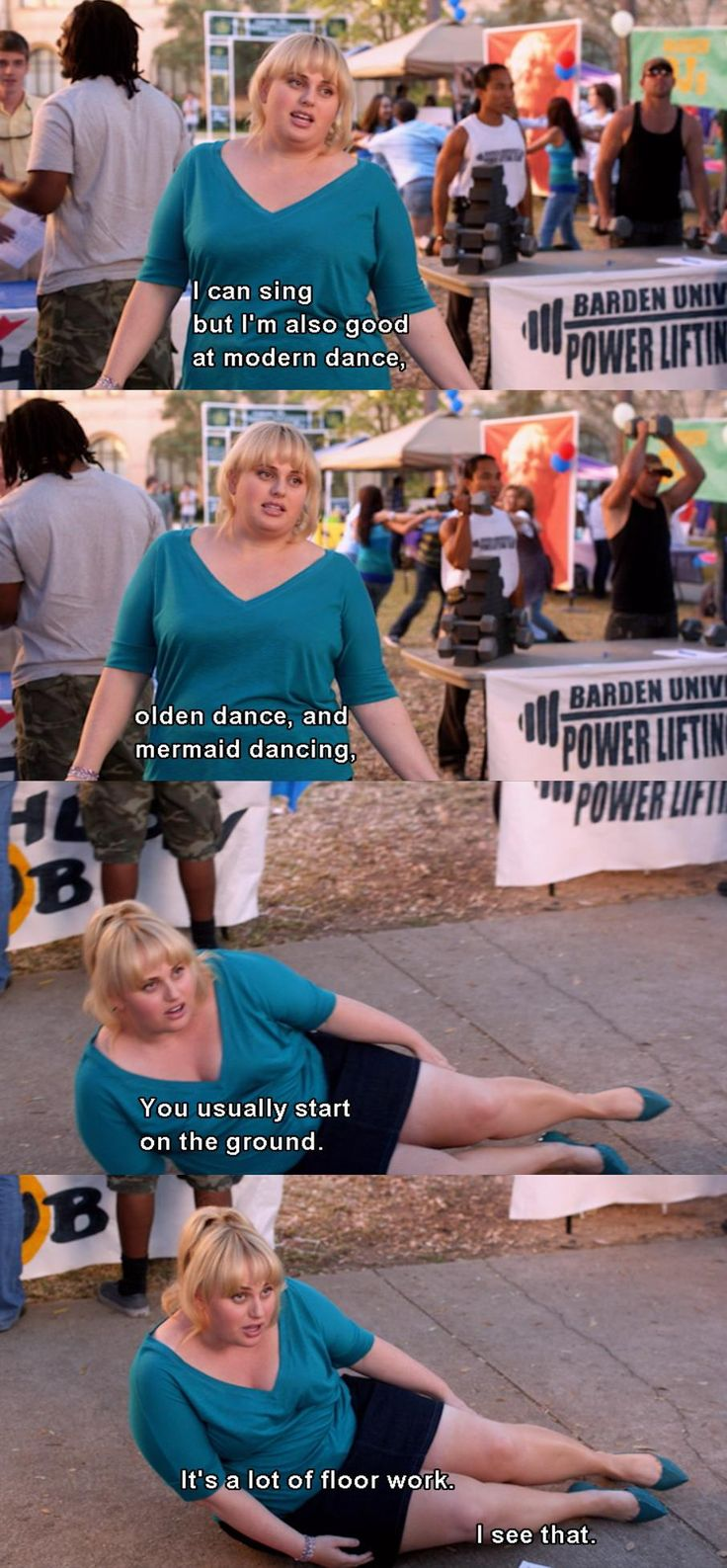 My name's not fat Amy...it's fat Patricia. Pitch perfect.