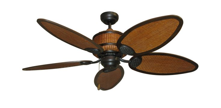 "tropical ceiling fans | ... Tropical Ceiling Fan with 52"" Rattan Blades - The Tropical Fan Company"