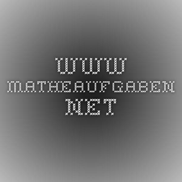 www.matheaufgaben.net