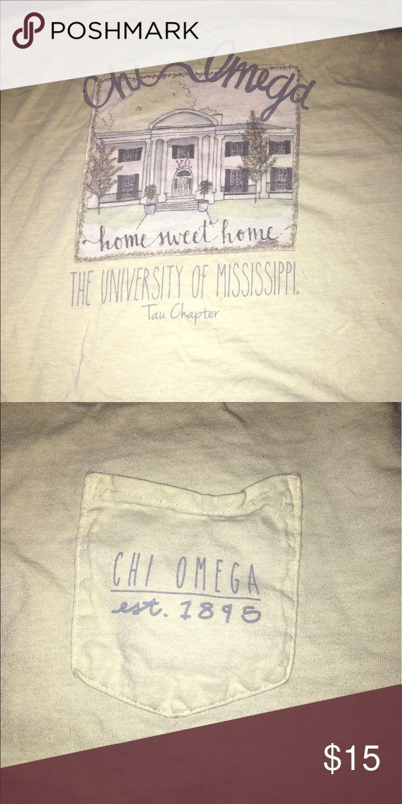 Ole miss chi omega tshirt Chi omega ole miss sorority shirt Tops Tees - Short Sleeve