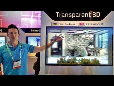 CES 2016 - Panasonic Transparent Display - YouTube