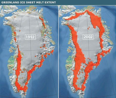 Best Climate Change And Our World Before After Images On - Map of us after ice caps melt
