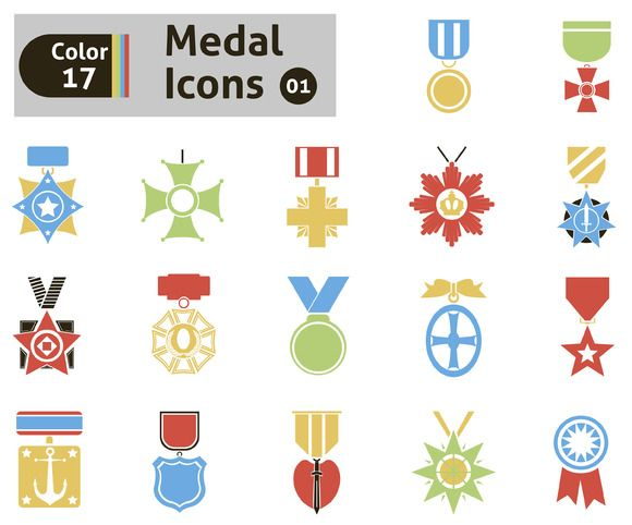 Award and medal icons by Stoker-13 on @creativemarket