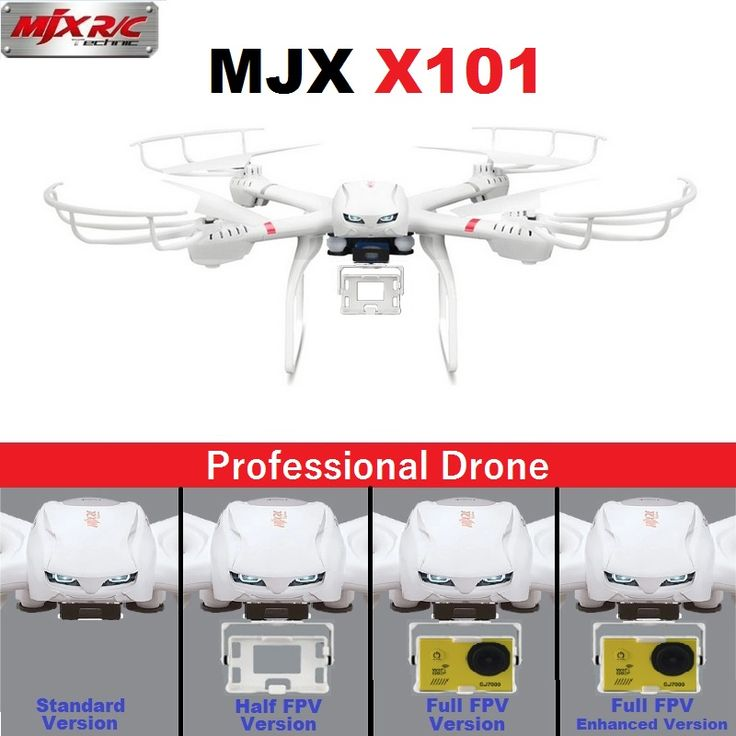 Professional Drones MJX X101 2.4GHz 6-Axis FPV RC Quadcopter Helicopter With SJ7000 14MP 1080P Full HD WiFi Camera //Price: $69.21 & FREE Shipping //     #RCBoat