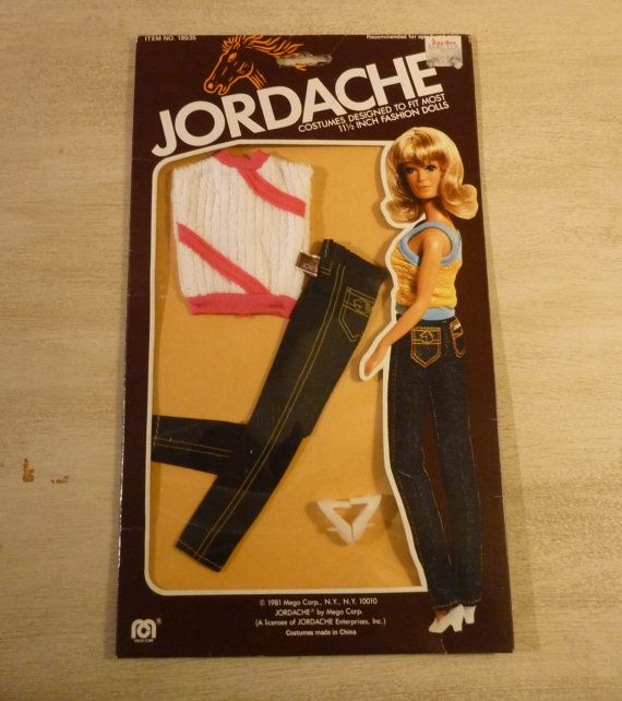 1980s Jordache Barbie Clothes. $20.00, via Etsy.