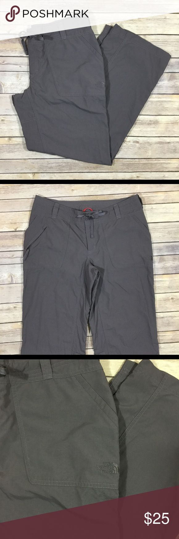 "Women's The North Face Athletic Outdoor Pants 833 Women's The North Face Athletic Hiking/Camping Outdoor Pants.  GUC without flaws.  Size 10 Short.  100% Nylon.  Waist - 32"" Hips - 41"" Rise - 8"" Inseam - 29"" North Face Pants Track Pants & Joggers"