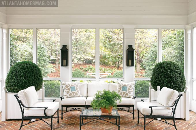 I love screened porches: Screens Porches, Outdoor Living, Sunrooms, Sun Porches, Patio, Atlanta Home, House, Outdoor Spaces, Sun Rooms