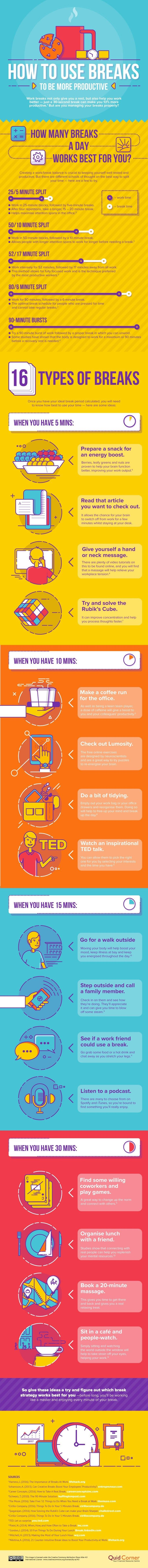 The Best Ways to Use Breaks to Be More Productive - #Infographic