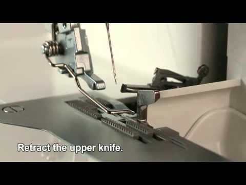 JUKI®Serger MO-Universal Blind Stitch Presser Foot - YouTube