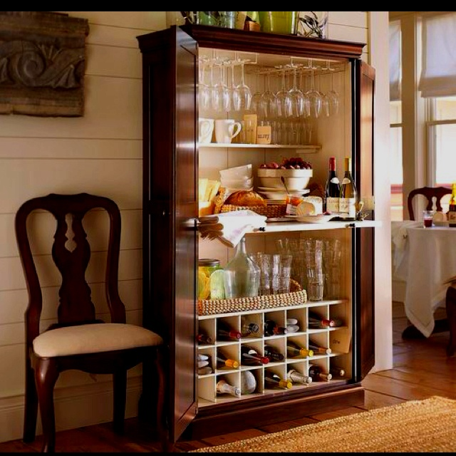 I Was Recently Thumbing Through The Spring 2010 Pottery Barn Catalog And I  Came Across This Bar Armoire . I Love The Idea Of A Bar Armo.