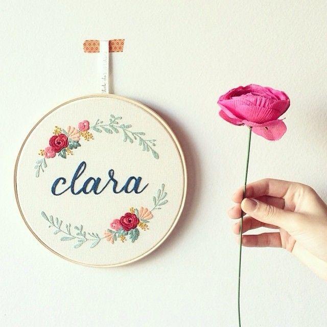 Domingo florido {com uma cartela de cor-espetáculo sugerida pela cliente } #clubedobordado