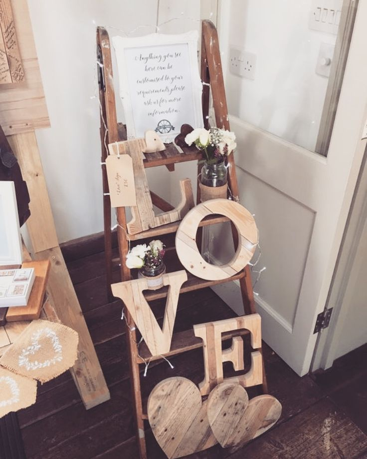 Wooden Love Sign Rustic Wedding Decor