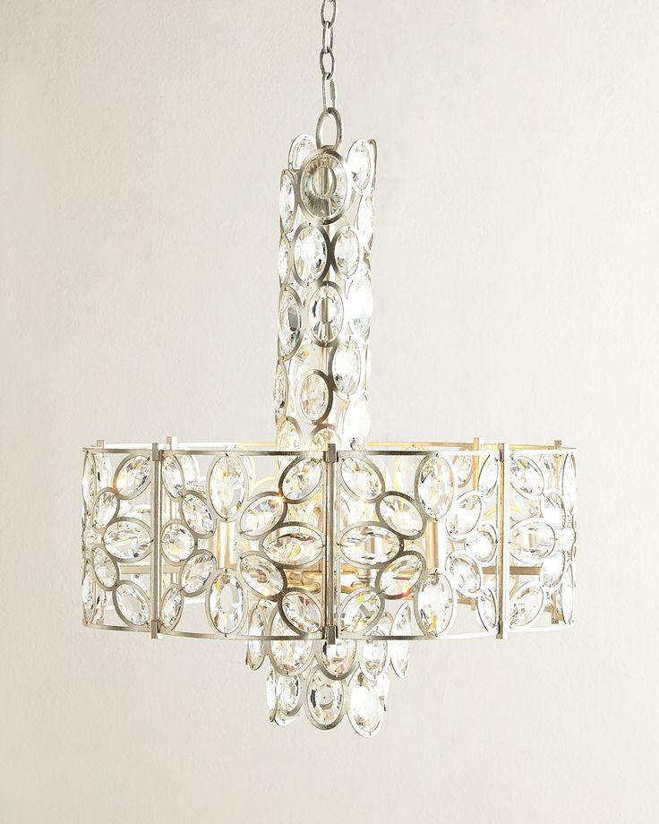 Crystal ovals 8 light chandelier champagne neiman marcus · light fixtureschandeliersneiman marcuscrystalslightsshopschainsfashionlady