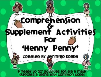 'Henny Penny' Comprehension & Supplement Activities ~Color