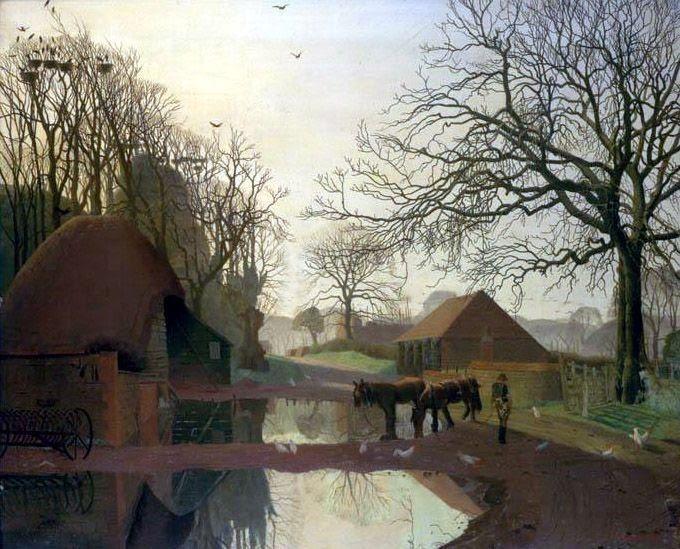 """harry epworth allen   Allan Gwynne Jones, """"Spring Evening, Froxfield"""" (1922)"""