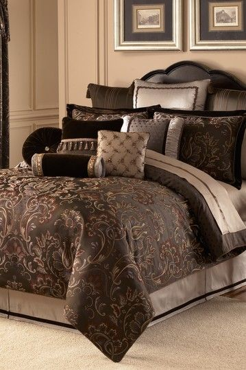 Lansing Comforter Set   Chocolate By Waterford On @HauteLook