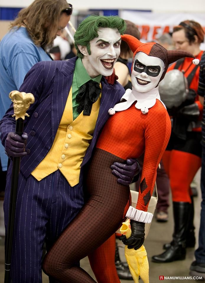 Joker & Harley Quinn Cosplay by Anthony Misiano / Harley's Joker & Alyssa / Joker's Harley, photo by Namu Williams
