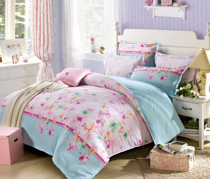 girls kids bedding sets 100 cotton butterfly bed set chinese wedding bedding set
