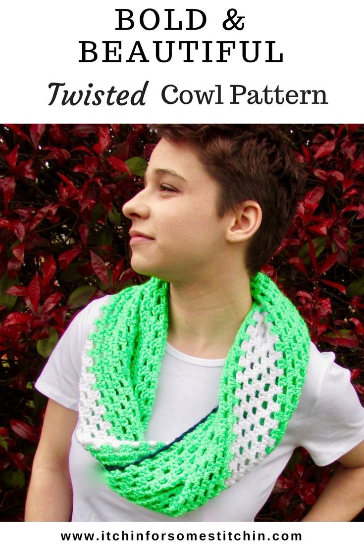 The Samantha Bold Beautiful Twisted Cowl Lets Create Craft