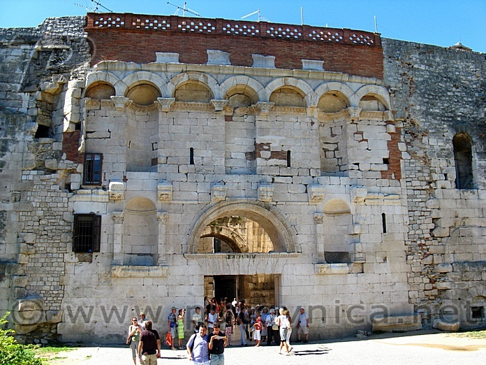 The Golden Gate (North) of the Diocletian's Ancient Palace in Split, Croatia (Hrvatska) Roman Emperior