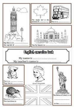 Remise à neuf des pages de garde du cahier d'Anglais. Page à colorier Contribution d'Angela:Page Les...