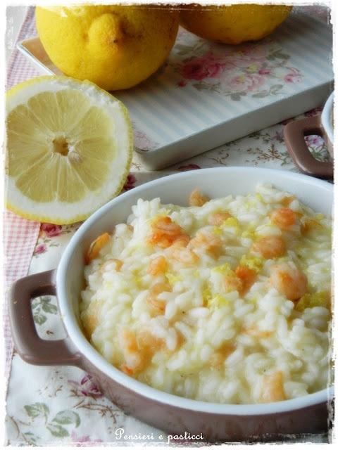 pensieri e pasticci: Risotto gamberi e limone