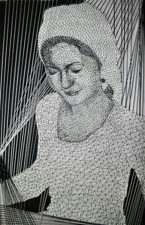 """AekaDolls """"My string art""""... artwork nails and thread """"Weaver"""" Панно из гвоздей и ниток в стиле стринг арт (искусство струн) Елены Алехиной AekaDolls """"Ткачиха"""""""