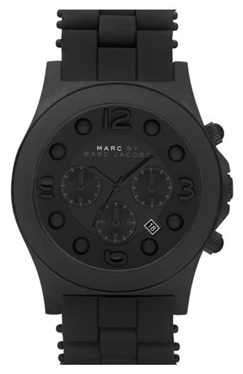 MARC BY MARC JACOBS 'All Blacked Out Pelly' Chronograph Watch | Nordstrom