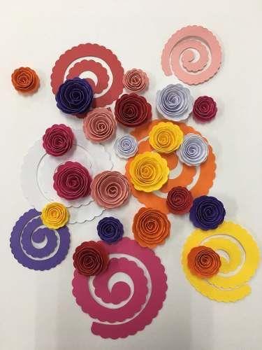 21 papel para fazer rosas de quilling - várias cores