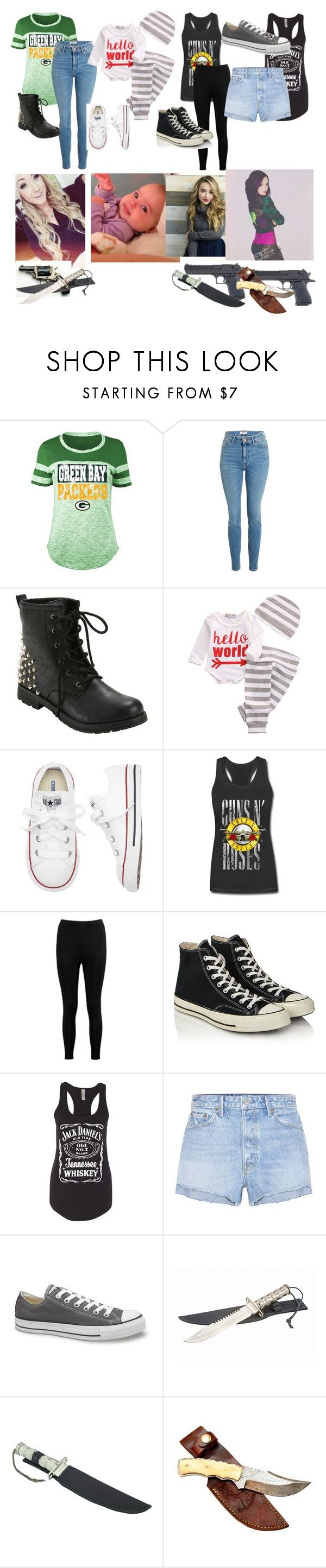 """""""My Characters Outfits fir the prison fall"""" by riddle-me-bliss ❤ liked on Polyvore featuring 5th & Ocean, Hot Topic, Gap, Boohoo, Converse and GRLFRND"""