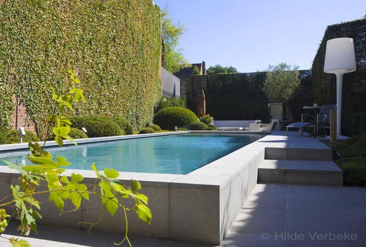 buiten zwembad, liner, zwembad, privé zwembad, mozaïek zwembad, betonnen zwembad, borrelplaat